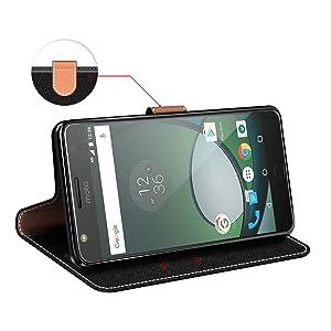 COODIO Funda Motorola Moto Z Play con Tapa, Funda Movil Motorola Moto Z Play, Funda Libro Motorola Moto Z Play Carcasa Magnético Funda para Motorola Moto Z Play, Negro/Rojo: Amazon.es: Electrónica