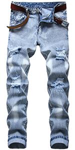 Ripped Mens pants jeans for men slim fit blue jeans men Destroyed Men Jeans Ripped Jeans