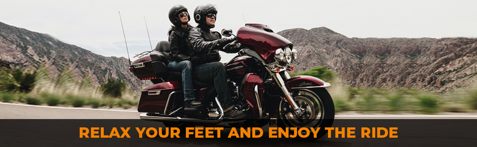 relax your feet and enjoy the ride