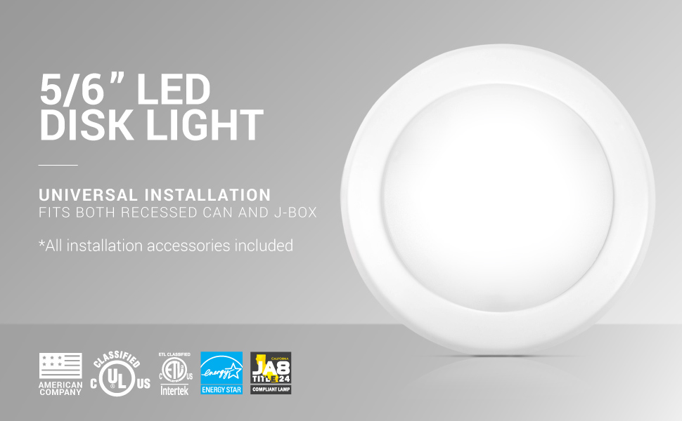 disk light 6 inch led parmida hyperikon sunco thin design