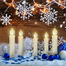 PChero LED Window Candles for Christmas