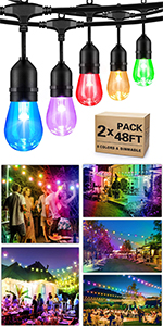 outdoor rgb led string lights