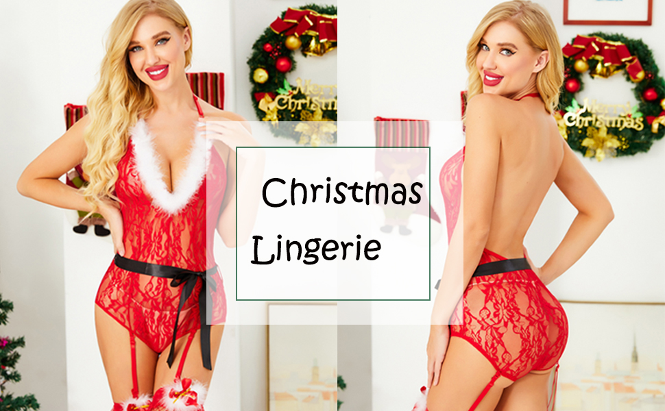 sexy santa costume for women garter belts and stocking sets boudoir outfits babydoll lingerie