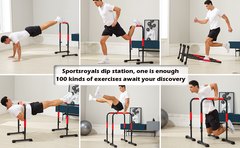 Sportsroyals dip stands, more than 100 kinds of exercise