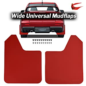 Full set of 4 Universal Fit Mitsubishi Mudflaps With fittings Classic Cars