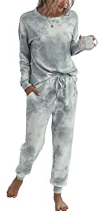 Tie Dye Printed Pajamas Set