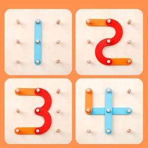 Giocattolo educativo impilabile dei blocchi di puzzle di legno di costruzione di numero di lettera