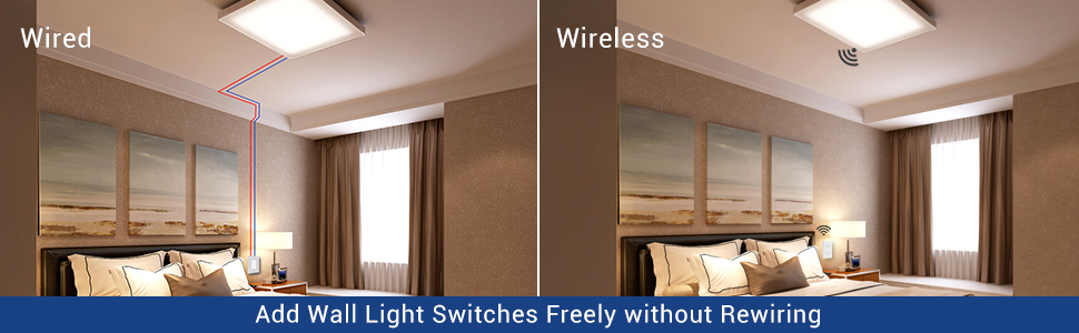 Add wall light switches freely without rewiring
