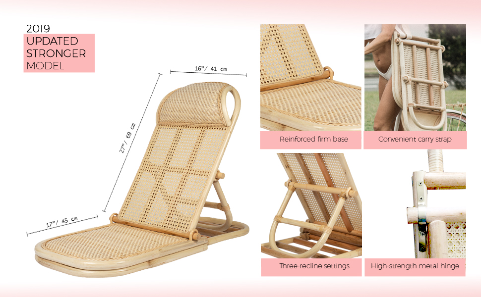 Astonishing Rattan Folding Portable Beach Chair Wicker Cane Bamboo Lounger Rattan Lawn Floor Pool Lounger Sunbed Deck Chair Gmtry Best Dining Table And Chair Ideas Images Gmtryco