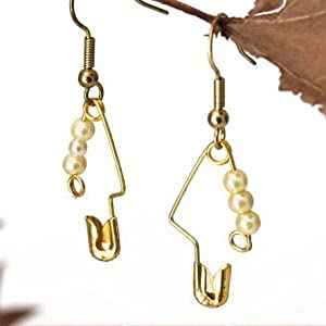 Recycle Safety Pins into a variety of earrings
