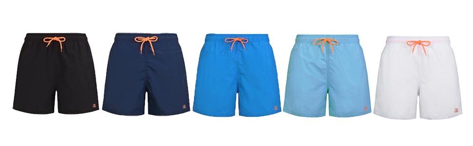 Justsun Mens Swim Shorts Waterproof Quick Dry Beach Shorts