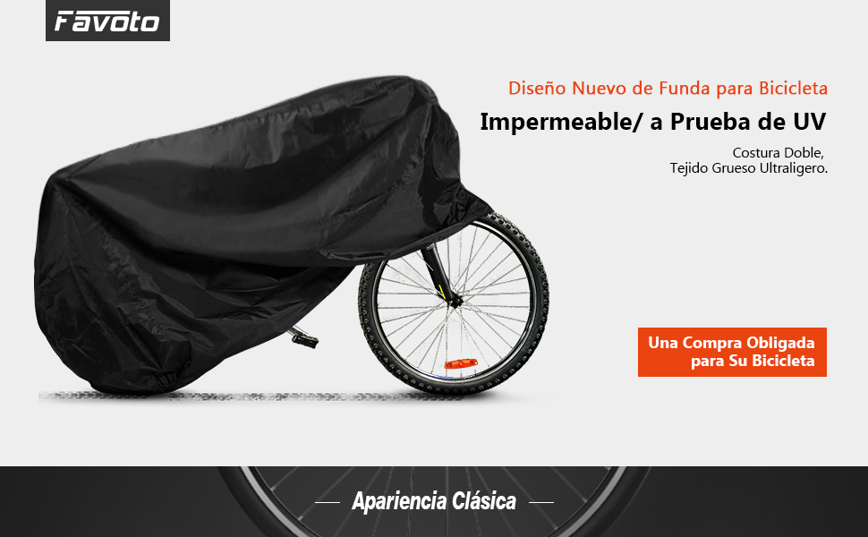 Favoto Funda para Bicicleta Exterior 210D Cubierta Protector ...