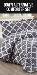 Goose Down 3 Pieces Comforter Set