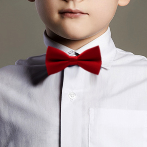 LD/_ QA/_ Baby Girl Boy Child Tie Pre Tied Party Wedding Tuxedo Dots Bow Tie Nec