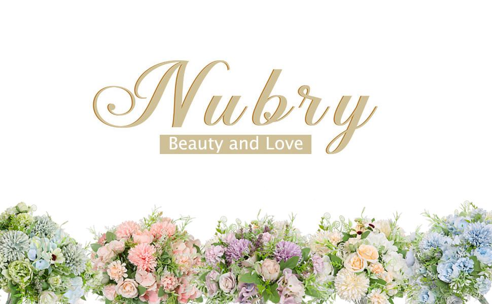 nubry artificial flowers arrangements for wedding cake centerpiece decoration