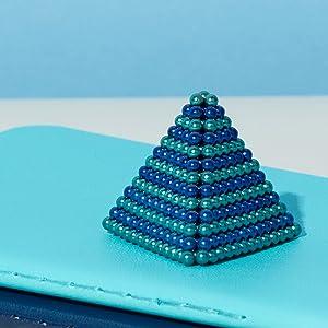 denim two tone blue speks pyramid