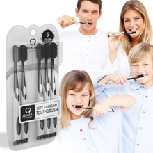 5 Pack Charcoal Toothbrush