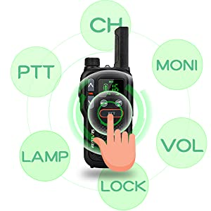 walkie talkie fácil de usar