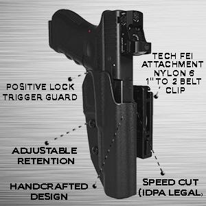 Kydex, holsters, gun holster, concealment holster, idpa, owb, owb idpa holster