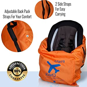 car seat travel bag with backpack straps, car seat travel bag graco