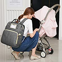 baby bag with changing station