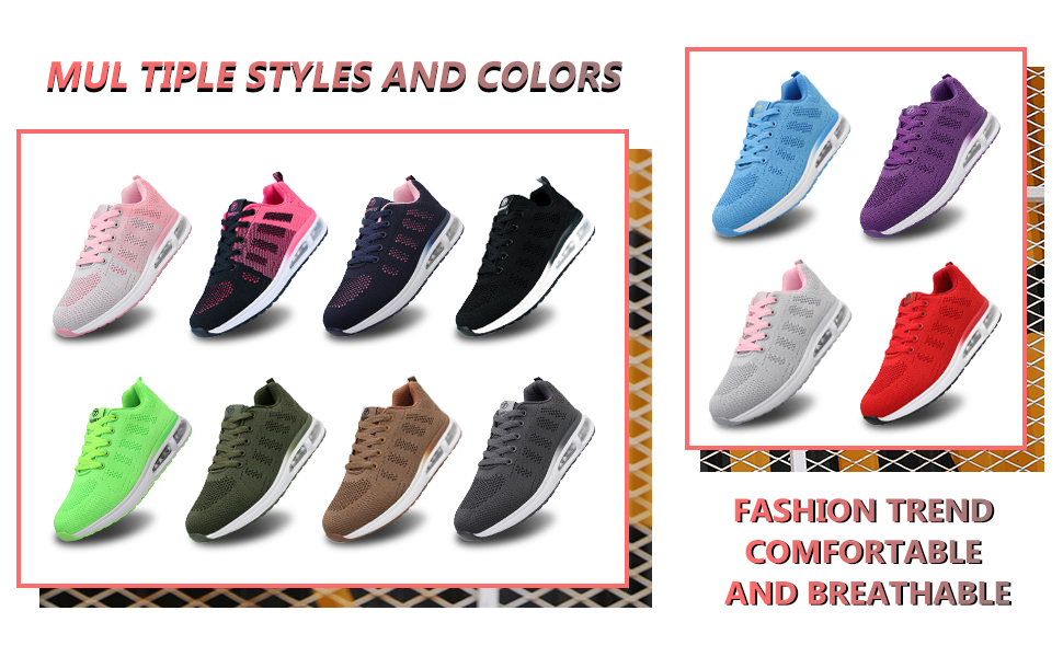 Womens Trainers Lightweight Walking Sneakers Road Running Shoes Breathable Casual Tennis Sports Shoe