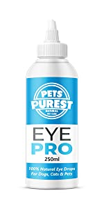 eye cleaner wash drops infection gunk itchy red dog cat pet horse ferret rabbit animal