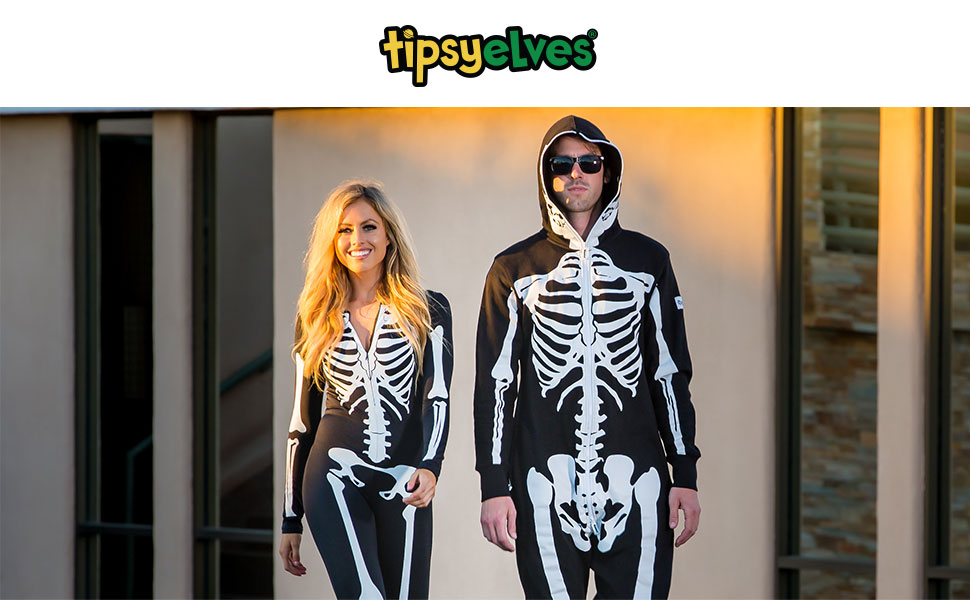 men's skeleton jumpsuit onesie Halloween costume