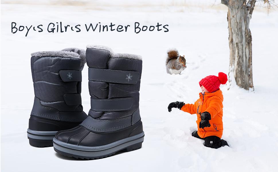 kid snow boots winter