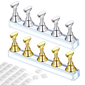 Gloden Silver Nail Display Stand+ Clay
