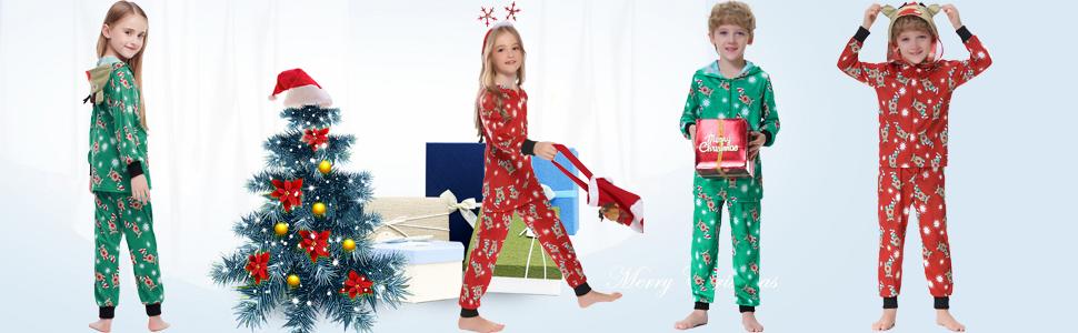 CJMDEH Ensemble Pyjama Noel Famille,Ensemble De Pyjamas Assortis De No/ël en Famille Xmas Adultes Enfants /À Manches Longues V/êtements De Nuit B/éb/é Barboteuse pour Femmes Hommes Enfants B/éb/é Homewear