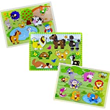 wooden peg puzzle for toddler games  puzzle for kids 1 2 3 4 years old