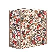 signare, tapestry, v&a, cosmetic bag, bag detail, floral bag