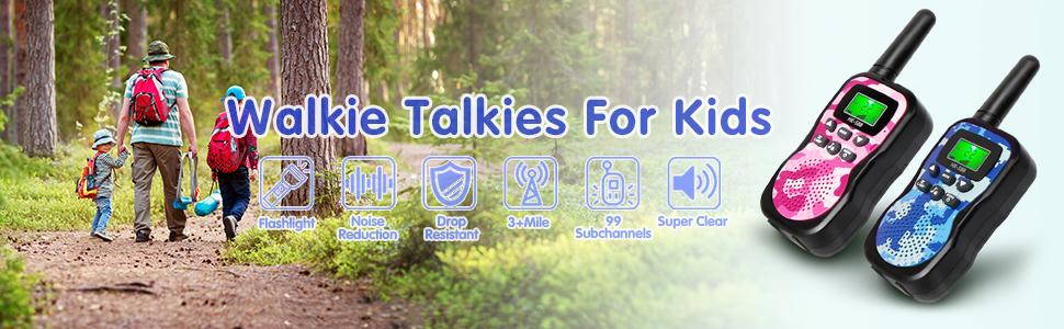 GlobalCrown Walkie Talkie per Bambini (comprende 2 ricetrasmittenti)