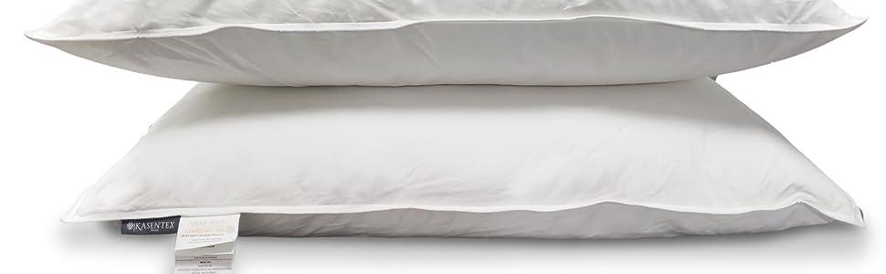 White down feather pillow set