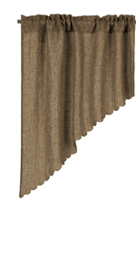 burlap swag curtains