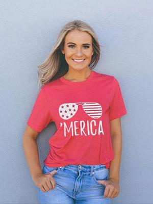 American Flag Tee Shirts for Women