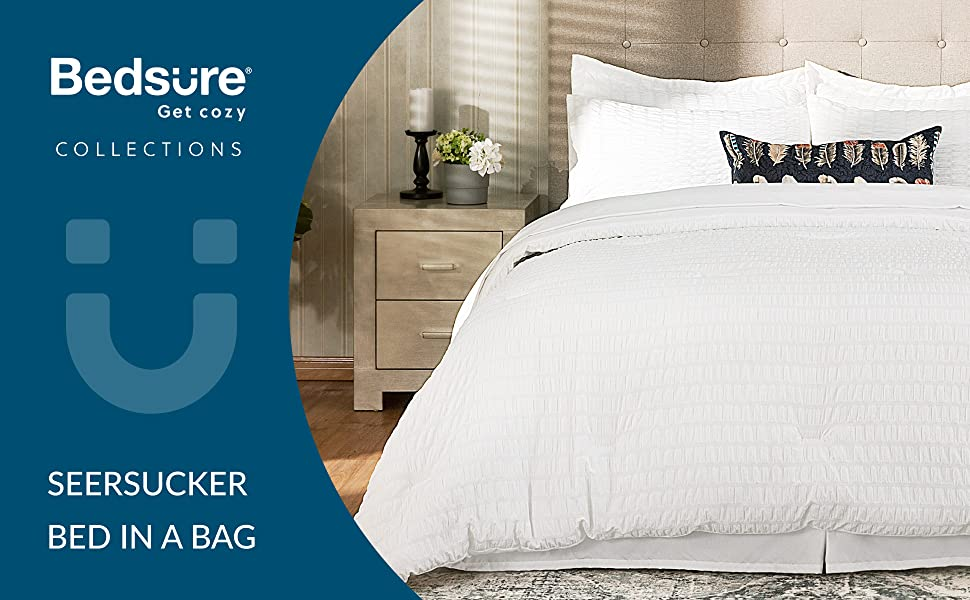 get cozy with the Bedsure 6 Pieces Bed-in-A-Bag