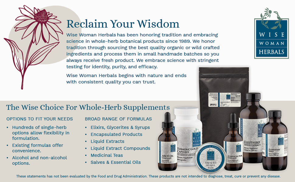 Wise Women Herbals handmade whole-herb supplements pure effective