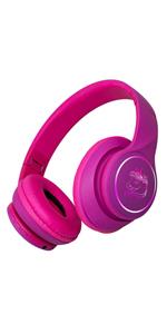 led headphones pink