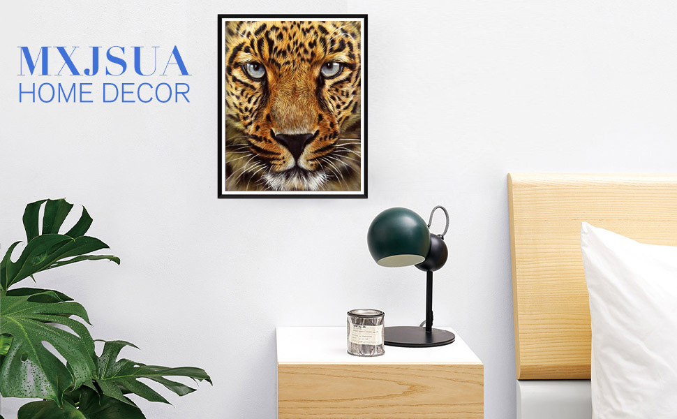 Full-drilled Cheetah Cross-Stitch Art Craft Wall Decoration,18X12 inches AiEllen DIY Diamond Painting by Numbered kit