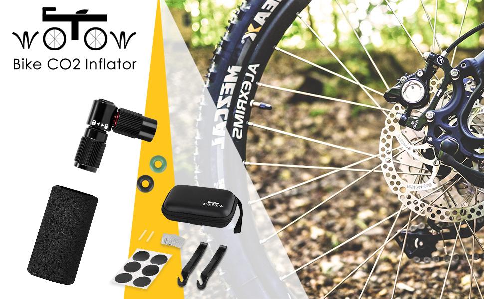 Bike CO2 Pump Cycle Tyre Tube Inflator Valve Presta Shrader