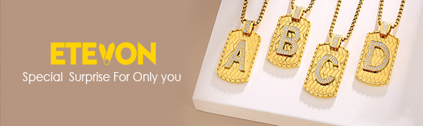 initial necklace chain for women men