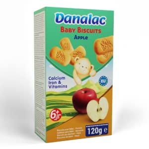 DANALAC Baby Biscuits Snack for Babies Apple