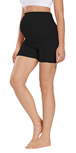 Women's Maternity Yoga Short Over Bump Workout Running Athletic Pants