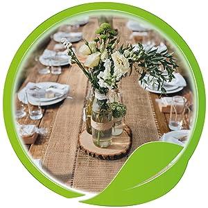 jute tischläufer tischband vintage dekoration