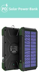 solar wireless power bank portable 26800mah