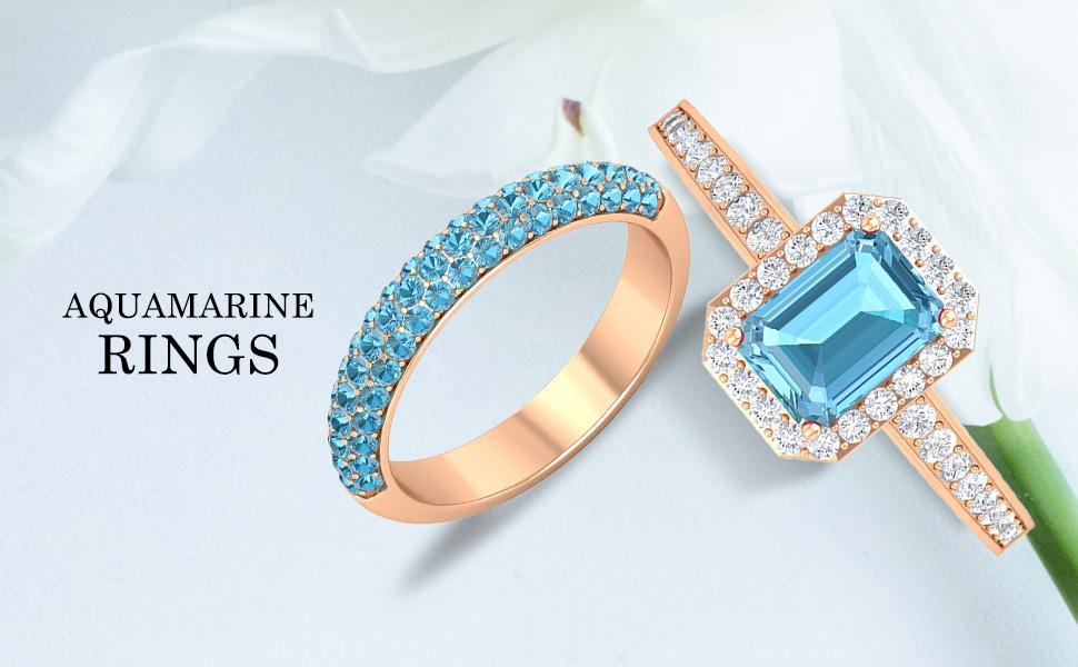 banner Aquamarine Rings