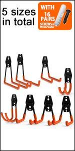 CoolYeah Garage Hook 8 pack