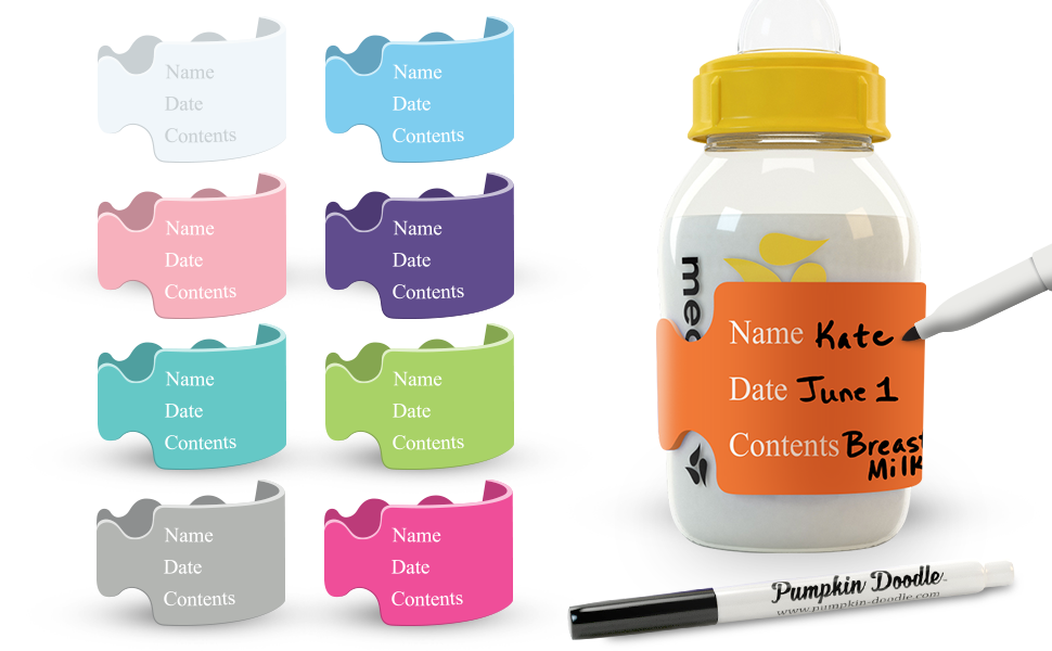 they have lasted a few months on bottles even through washes. Name labels for bottles pacifiers or sippy cups They are permanent vinyl